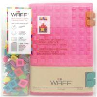 Kreativní deník WAFF, velikost A5, glitter pink