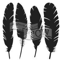 """Šablona 12""""x12"""" (30,5 x 30,5 cm), Four feathers"""