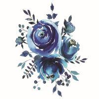 Nažehlovací nálepka, 25 x 35 cm - modrotisk