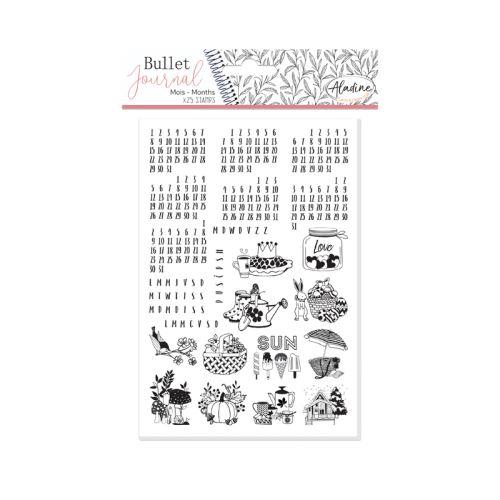 Diářová razítka Aladine Stampo BULLET JOURNAL - Kalendárium 1