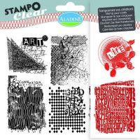Gelová razítka StampoClear, mixed media
