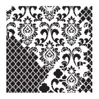Šablona Cadence, kolekce HomeDeco, 45x45 cm - ornamenty 4