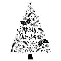 Dřevěné razítko, velikost G - Vánoční strom