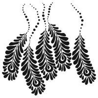 Šablona TCW -  Peacock Feathers
