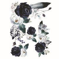 Nažehlovací nálepka, květiny 6 - 25 x 35 cm