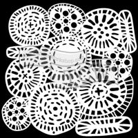"Šablona 6""x6"" (15,2 x 15,2 cm), Circle Jumble"