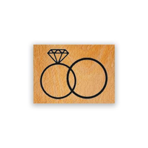 Dřevěné razítko - Prstýnky 1