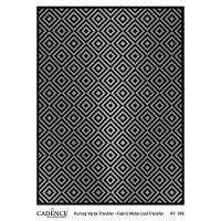 Transferový obrázek na textil - stříbrné kosočtverce