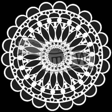 Šablona TCW -  Scalloped Mandala