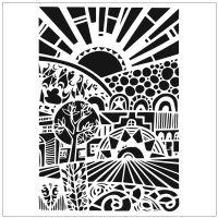"""Šablona 6""""x6"""" (15,2 x 15,2 cm), Sun Walley"""