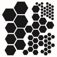 "Šablona 6""x6"" , Hexagons, mini"