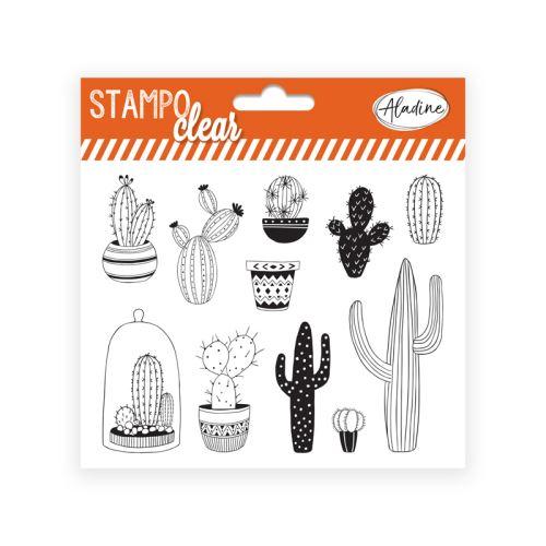 Gelová razítka Stampo CLEAR - Kaktusy 1