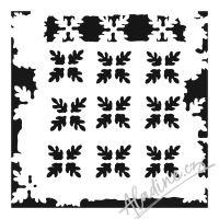 "Šablona 6""x6"" (15,2 x 15,2 cm), Pine Needle Print"