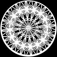 "Šablona TCW 6""x6"" (15,24 x 15,24 cm), Mandala Prismatic"