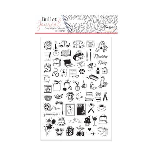 Diářová razítka Aladine Stampo BULLET JOURNAL - Můj den 1