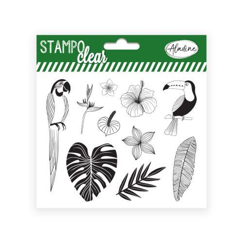 Gelová razítka Stampo CLEAR - Džungle 1