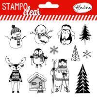 Gelová razítka StampoClear, Alpské Vánoce