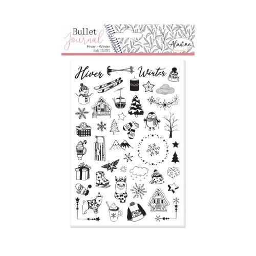 Diářová razítka Aladine Stampo BULLET JOURNAL - Zima 1