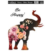 Nažehlovací nálepka, 25x35cm - květinový slon