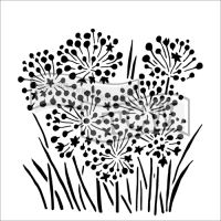 "Šablona 6""x6"" , Onion Blossoms, mini"