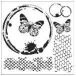"""Šablona 12""""x12"""" (30,5 x 30,5 cm), Butterfly Collage"""
