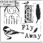 """Šablona 12""""x12"""" (30,5 x 30,5 cm), Fly Away"""