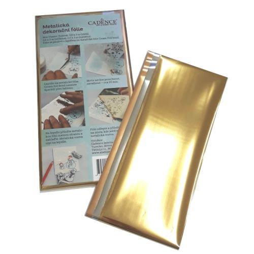 Metalická dekorační fólie Cadence - zlatá, stříbrná, měděná 1