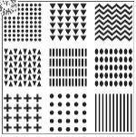 """Šablona 6""""x6"""" , Patterns, mini"""