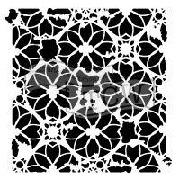 """Šablona TCW 6""""x6"""" (15,24 x 15,24 cm), Distressed Lace"""