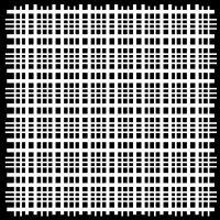 "Šablona 6""x6"" (15,2 x 15,2 cm), Plaid Fringe"