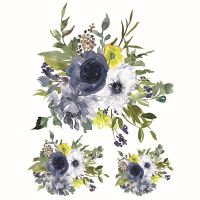 Nažehlovací nálepka, květiny 4 - 25 x 35 cm