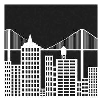 "Šablona 6""x6"", Cityscape, mini"