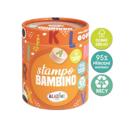 Dřevěná dětská razítka Stampo BAMBINO - Abeceda 1