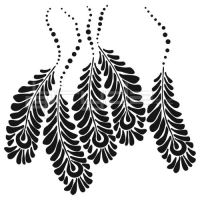 "Šablona 6""x6"" , Peacock Feathers, mini"