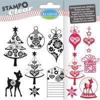 Gelová razítka StampoClear, bohémské Vánoce