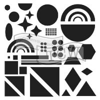 "Šablona 12""x12"" (30,5 x 30,5 cm), Shapes"