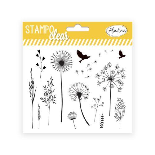 Gelová razítka Stampo CLEAR - Traviny 1