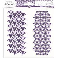Aladine šablona, 15x15 cm - japonská geometrie