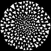 """Šablona 6""""x6"""" (15,2 x 15,2 cm), Dash Triangle"""