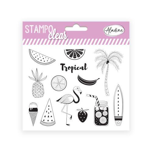 Gelová razítka Stampo CLEAR - Tropical 1