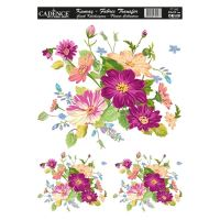 Nažehlovací nálepka, 25x35 - květiny