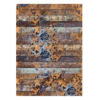 Rýžový papír - dřevěná podlaha s květy