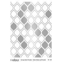 Transferový obrázek na textil - stříbrné citrony