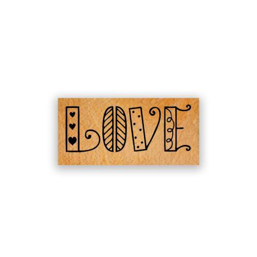 Dřevěné razítko - Láska a inspirace 1