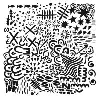 "Šablona 6""x6"" (15,2 x 15,2 cm), Texture Plate"