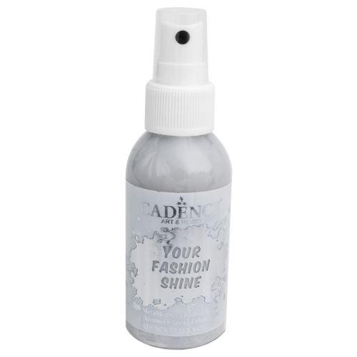 Perleťový sprej na tmavý textil, 100ml - stříbrná