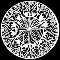 "Šablona 6""x6"" (15,2 x 15,2 cm), Spring Medallion"