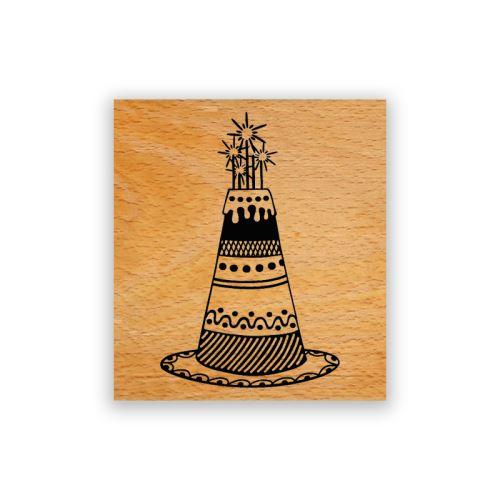 Dřevěné razítko - Dort 1