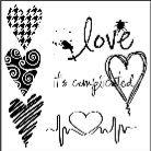 "Šablona 12""x12"" (30,5 x 30,5 cm), Complicated Hearts"