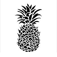 "Šablona 6""x6"" (15,2 x 15,2 cm), Pineapple"